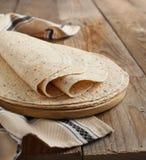 Tortillas del trigo integral Imagen de archivo libre de regalías