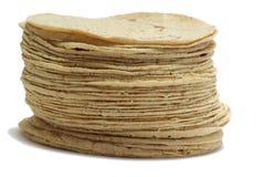 Tortillas des weißen Mehls Stockbilder