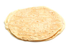 Tortillas in einem Stapel Lizenzfreie Stockfotografie
