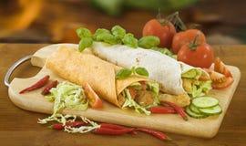 Tortillas enchidos Foto de Stock Royalty Free