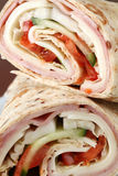 Tortillas with ham, cheese and vegetables Stock Images