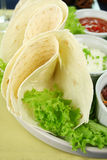 Tortillas And Lettuce Royalty Free Stock Photos