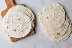 Tortillas mexicanas hechas en casa para el Tostada imagenes de archivo
