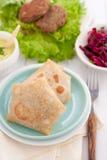 Tortillas mit Fleisch oder vegetabls Lizenzfreies Stockfoto