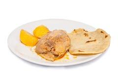 Tortillas z currym obrazy stock