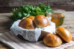 Tortini al forno farciti con cavolo Immagine Stock
