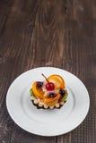 Tortini con i frutti Fotografia Stock