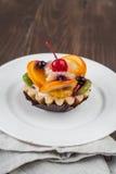 Tortini con i frutti Immagini Stock