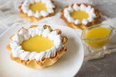 Tortini del limone Immagine Stock