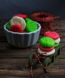 Tortini di menta piperita di Natale Fotografia Stock Libera da Diritti