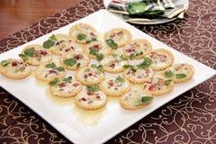 Tortini salati con crema Fotografia Stock Libera da Diritti
