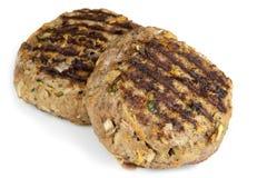 Tortini sani dell'hamburger isolati Fotografie Stock Libere da Diritti