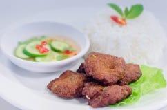 Tortino fritto dei pesci fotografie stock