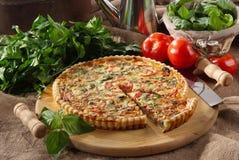 Tortino salato mediterraneo 免版税库存照片
