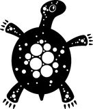 Tortoise. Vector illustration of a tortoise. Black and white Royalty Free Stock Photo