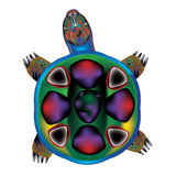 Tortoise. In colors of the rainbow Stock Photo