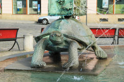 Tortoise on Arion´s fountain Stock Photo