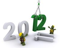 Tortoise Bringing the new year in Royalty Free Stock Photo