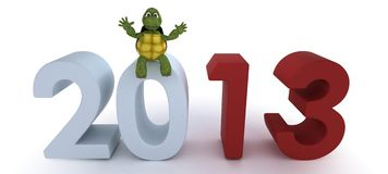 Tortoise bringing in the new year Stock Photography