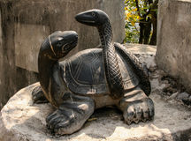 Tortoise bronze carving in guilin, china Stock Photo