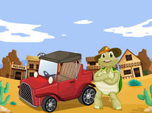 Tortoise and car Royalty Free Stock Photography