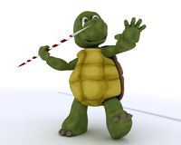 Tortoise competing in javelin Stock Photography