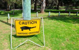 Tortoise Crossing Signage Royalty Free Stock Photos