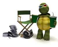 Tortoise with a directors chair Royalty Free Stock Image