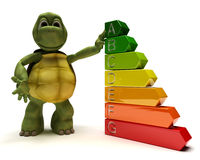 Tortoise with energy ratings Stock Images