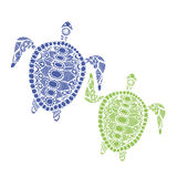 Tortoise family, zentangle for your design Stock Photography