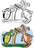 The Tortoise and The Hare stock de ilustración
