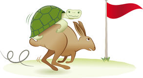 Tortoise and Hare royalty free illustration