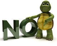 Tortoise with no sign Royalty Free Stock Photos