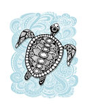 Tortoise ornate, zentangle for your design Royalty Free Stock Photography