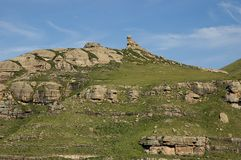 The Tortoise outcrop. The rocky outcrop known as 'The Tortoise' in the Drakensberg mountains, South Africa royalty free stock photo