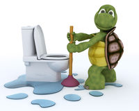 Tortoise plumbing contractor Royalty Free Stock Photo