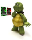 Tortoise with push button Stock Image