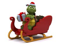 Tortoise santa character Royalty Free Stock Photo