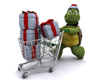 Tortoise santa character Royalty Free Stock Photos