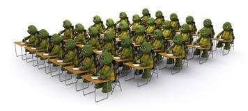 Tortoise sat at school desk Royalty Free Stock Images
