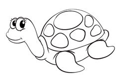 A tortoise sketch Stock Photography