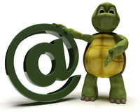 Tortoise with @ symbol Royalty Free Stock Photo