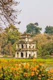 Tortoise Tower at Hanoi's Hoan Kiem Lake Royalty Free Stock Photo