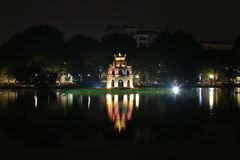 Tortoise Tower on Hoan Kiem lake, Hanoi Royalty Free Stock Image