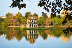 Tortoise Tower in Hoan Kiem Lake, Hanoi Stock Photography