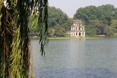 The Tortoise tower at Hoan Kiem Lake, Hanoi, Vietnam - Series 3 Royalty Free Stock Image