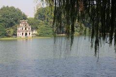 The Tortoise tower at Hoan Kiem Lake, Hanoi, Vietnam Royalty Free Stock Photo
