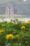 Tortoise tower at Hoan Kiem Lake - Series 2 Royalty Free Stock Image
