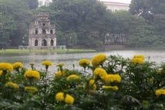 Tortoise tower at Hoan Kiem Lake - Series 3 Royalty Free Stock Image