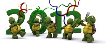 Tortoises Bringing the new year in Stock Photos